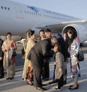 Di New York, Presiden SBY disambut putra pertamanya