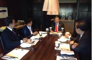 Yusril saat bertemu Presiden SBY di Kyoto