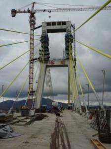 Jembatan Soekarno, Manado sedang dalam proses pembangunan