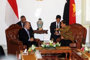 Presiden Jokowi bertemu PM PNG Peter O'Neill, di Istana Merdeka, Selasa (21/10)