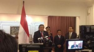 Presiden SBY saat konpers UU Pilkada di Halim PK