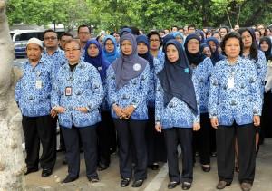 PNS saat mengikuti upacara Hari Kesaktian Pancasila