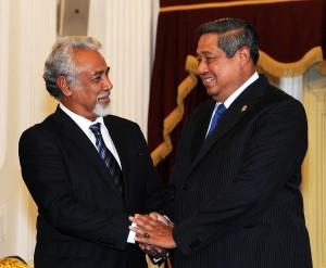 Presiden SBY dan PM Timor Leste Xanana Gusmao