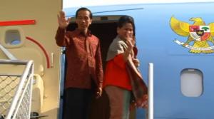 Presiden Jokowi dan Ibu Negara Iriana mengakhiri kunjungannya ke Australia, Minggu (16/11)