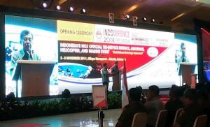 Wapres Jusuf Kalla saat membuka Indo Defence 2014, di Kemayoran, Jakarta, Rabu (5/11)