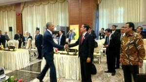 Presiden Joko Widodo bertemu dengan Presiden AS Barack Obama Di Sela-sela KTT ASEAN Ke-25 di Nay Pyi Taw, Myanmar, 13 November 2014