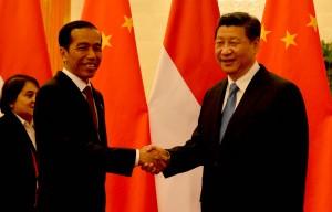 Presiden Jokowi diterima Presiden RRT Xi Jinping, di Beijing, Minggu (10//11)