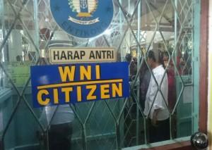 Presiden Jokowi mengunjungi Pos Pemeriksaan Lantas Batas (PPLB) Entikong, Kalbar, Rabu (21/1)
