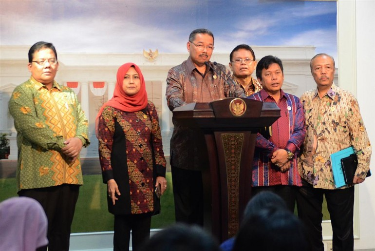 Presiden Jokowi Menerima Kompolnas dan ADB