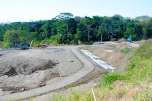 Areal pembangunan Waduk Jatigede, di Sumedang, Jawa Barat