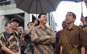 Presiden Jokowi dan Gubernur DKI Basuki Tjahaja Purnama atau Ahok saat blusukan di sebuah tempat di Jakarta, beberapa waktu lalu