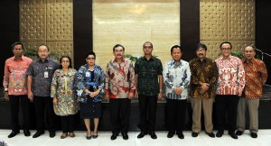 Seskab Andi Wijayanto bersama jajaran pejabat eselon I Sekretariat Kabinet