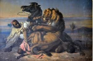 Foto. 1.  Antara Hidup dan Mati (Between Life and Death),  Raden Saleh (1870) (Sumber: Bagian Pengelolaan  Seni Budaya dan Tata Graha, Sekretariat Presiden)