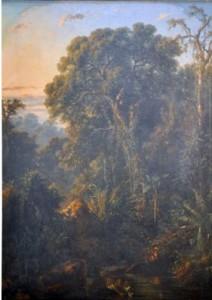 Foto. 3.  Harimau Minum,  Raden Saleh (1863) (Sumber: Bagian Pengelolaan  Seni Budaya dan Tata Graha, Sekretariat Presiden)