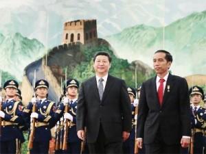 Presiden Jokowi dan Presiden RRT Xi Jinping, di Beijing, Kamis (26/3)