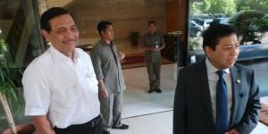 Kepala Staf Kepresidenan Luhut B. Pandjaitan dan Ketua DPR-RI Setya Novanto, pada satu kesempatan, beberapa waktu lalu