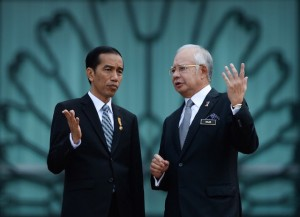 Presiden Jokowi dan PM Malaysia Najib Razak