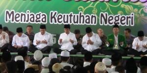 Presiden Jokowi menghadiri acara istighotsah yang digelar PBNU, di Masjid Istiqlal, Jakarta, Minggu (14/6) sore