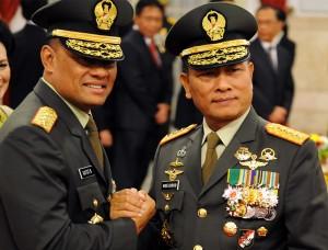 Jenderal Gatot Nurmantyo dan Jenderal Moeldoko