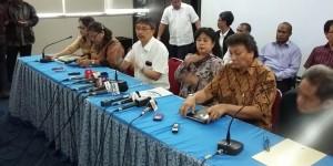 Ketua Umum PGI Pdt. Dr. Henriette T Hutabarat-Lebang dalam jumpa pers, di kantor PGI, Jakarta, Sabtu (18/7)