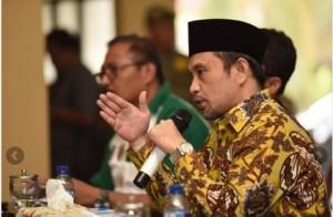 Menteri Desa, PDT, dan Transmigrasi Marwan Jafar dalam dialog dengan Kepala Desa, di Kab. Bondowoso, Jatim, Sabtu (8/8)