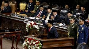 Jokowi di MPR