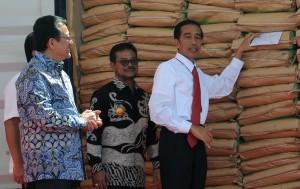 Presiden Jokowi saat melakukan pelepasan ekspor di Makassar, Sulsel, beberapa waktu lalu