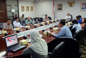 Inspektur Sekretariat Kabinet, Wawan Gunawan M.Si, membuka sosialisasi Whistle Blowing System dalam Pengadaan Barang/Jasa, di Jakarta, Selasa (29/9).