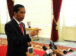 Presiden menjawab pertanyaan wartawan di Istana Merdeka, Jakarta (20/1) (Foto:Humas/Rahmat)