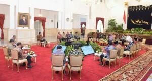 Suasana pertemuan rapat konsultasi pemerintah dengan lembaga negara di Istana Negara, Jakarta (19/1) (Foto:Humas/Oji)