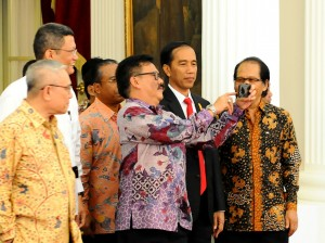 Presiden Usai Bertemu dengan Panitia Hari Pers Nasional kemarin (20/1) di Istana, Jakarta. (Foto:Humas/Rahmat)