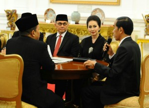 President Jokowi directly led a meeting with the National Committee for the Economy and Industry (KEIN), at the Merdeka Palace, Jakarta (20/1)(Photo:Humas/Rahmat)