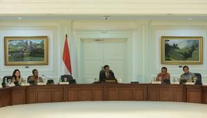 Presiden pimpin Rapat Terbatas mengenai Kemudahan Berusaha di Kantor Presiden, Jakarta (20/1) (Foto:Humas/Jay)