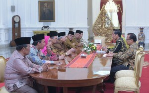 Suasana Pertemuan Presiden Jokowi dengan Pengurus Pusat MUI di Istana Merdeka, Jakarta (5/1)