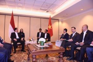 Presiden Jokowi bertemu PM Vietnam di California, Amerika Serikat (15/2). (Foto:Humas/Nia)
