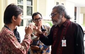 Ketua Komnas Perlindungan Anak usai melakukan pertemuan dengan Presiden di Istana Merdeka, Jakarta, Rabu (3/2) pagi. (Foto:Humas/Jay)