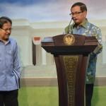 Seskab menyampaikan konferensi pers usai sidang kabinet paripurna (10/2). (Foto:Humas/Deni)