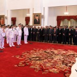 Presiden Jokowi melantik gubernur dan wakil gubernur terppilih di Istana Negara, Jakarta Jumat (12/2) sore. (Foto:Humas/Rahmat)