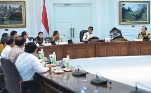 Presiden Jokowi memimpin rapat terbatas masalah destinasi Danau Toba, di kantor Kepresidenan, Jakarta, Selasa (2/2) sore. (Foto: Rahmad/Humas Setkab)