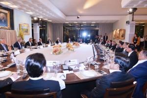 Suasana pertemuan working dinner yang dihadiri Presiden Jokowi di California, Amerika Serikat (Foto:BPMI/Laily)