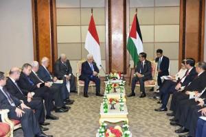 Suasana Pertemuan bilateral Presiden Jokowi dan Presiden Palestina di JCC, Jakarta (6/3). (Foto:Humas/Jay)