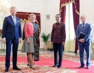 Presiden Jokowi menerima Puteri Astrid di Istana Merdeka (15/3)