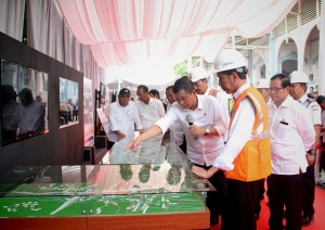 Peninjauan pembangunan reaktivasi jalur kereta api Trans Sumatera Medan-Aceh (2/3). (Foto: Humas/ Agung)