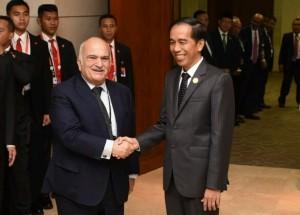 Presiden saat pertemuan bilateral dengan Yordania (6/3). (Foto: Humas/Jay)