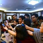Jubir Kemlu Arrmanatha memberikan penjelasan rencana pertemuan Menlu dan Panglima TNI dengan Menlu dan Panglima Malaysia, dan FIlipina, di Jakarta, pekan depan