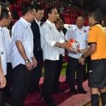 Presiden saat Indonesia Soccer Championship (ISC) 2016 di Stadion Mandala Jayapura. (Foto: BPMI)