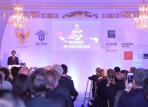 President Joko Widodo gives a remarks at the UK-Indonesia Business Forum in London (20/4) (Picture: Public Relations Office/Nia)