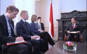 Presiden Jokowi bertemu Delegasi Uni Eropa (21/4). (Foto: BPMI/Laily)