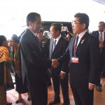 Presiden Jokowi tiba di Nagoya Kanko Hotel pada hari Kamis (26/5) sore waktu setempat untuk ikuti agenda G7 di Jepang. (Foto:Humas/Dhany)