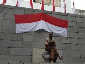 Patung Bung Karno yang terletak di Penjara Banceyu, Bandung, Jabar